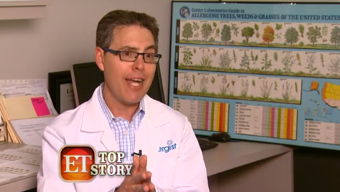 Dr. Bassett talks with Entertainment Tonight about risks of hair dye reactions